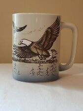 Vintage Otagiri Japan Soaring Bald Eagles Coffee Tea Cup