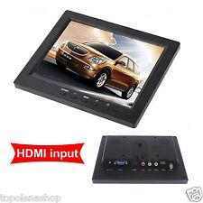 TV TELEVISORE MONITOR LCD 8'' TFT VIDEOSORVEGLIANZA VGA BNC HDMI USB TELECOMANDO