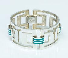 Vintage Sterling Silver Enamel Bracelet