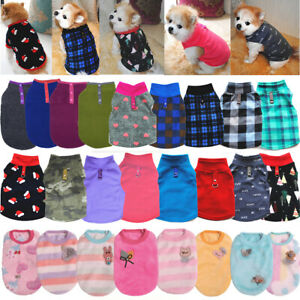 Puppy Dog Clothes Fleece T Shirt For Small Dogs Chihuahua Pet Vest Warm Winter
