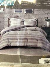 Twin/Twin Xl Brooklyn Cotton Jacquard Comforter Set Cotton Grey Urban Habitat