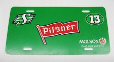 Pilsner Saskatchewan Roughriders 13th Man license plate 12x6 Inches