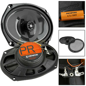 """Memphis Audio 6x9"""" 2 Way Shallow Coaxial Speakers Power Reference 100W Max Pair"""