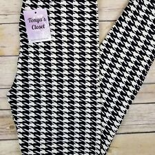 Black and White Houndstooth Leggings ONE SIZE OS