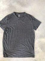 H&M Charcoal Grey Mens Crew Neck Shirt T-Shirt (BX K) Size XL