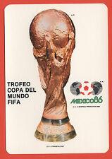 Original Postkarte    WM MEXICO 1986  -  WM Pokal + Off.WM Logo  !!  SEHR SELTEN
