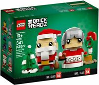 LEGO 40274 Brickheadz Mr Claus Mrs Claus Santa, Papa Noel, NUEVO / NEW