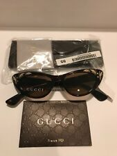 GUCCI GG3807S Brown Havana Mother Of Pearl Thin Cat Eye Sunglasses 3807 Vintage