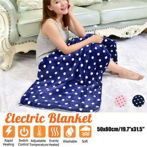 Electric Heated Throw Over Under Blanket Fleece Washable Warm Mattress Xmas