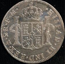 More details for mexico 2 reales 1797 pillar 1/4 dollar genuine km#91 (t37)