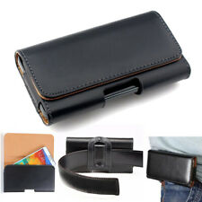 For Samsung Note 10+9 8 5 4 Leather Universal Pouch Waist Belt Clip Holster Case