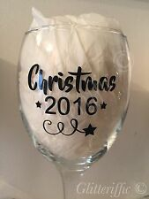 x10 CHRISTMAS 2017 Vinyl Decal Stickers For DIY Glitter Wine Glass Or Crafts