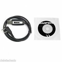 USB Programming Cable for Baofeng UV-5R UV-3R+ Two way Radio With Driver CD NEW