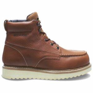 "Wolverine Men Work Wedge 6"" Steel Toe Honey Boot W08289 Extra Wide"