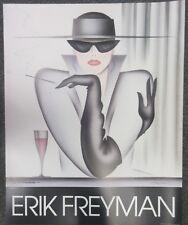 ERIK FREYMAN - LA MYSTERIEUSE HAND SIGNED POSTER - 1985  PERFECT  NEVER FRAMED