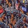 ALYNN Bulls and Bears Stock Market Men's Silk Neck Tie