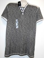 LCR Mens Gray White  Border T-Shirt Cotton Sz 2XL  Fit Small NEW