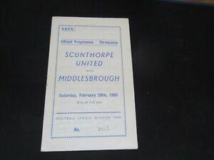 1959-60 DIV 2 SCUNTHORPE UNITED v MIDDLESBROUGH