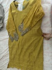 pakistani lawn salwar kameez Stitched Size Medium-large
