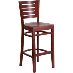 Flash Furniture Wood Restaurant Bar Stool, Mahogany - XU-DG-W0108BBAR-MAH-MAH-GG
