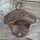 Vintage Starr X DOUBLE COLA Metal Wall Mount BOTTLE OPENER Made in USA #26 VGUC
