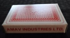 """VINTAGE AMAV """"THE MARKED DECK"""" MAGIC PLAYING CARDS W/INSTRUCTIONS HONG KONG"""
