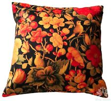 Red Floral and Bird Cushion Cover Luxury Colorful Gift Custom Velvet Sofa Lounge