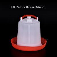 1.5L Geflügel Huhn Wachtel Fasan Automatische Waterer TrinkerFeeder PetSupply 4H