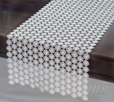 "LACE TABLE RUNNER ECRU MODERN LONG AND UNIQUE 13.8""X71"" (35CM X 180CM)"