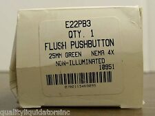 Cutler Hammer E22PB3 Flush Push Button ++ NEW ++