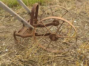 Planet Junior 2 Wheeled Hoe, Vintage Horticultural Hand Plough Antique Garden...