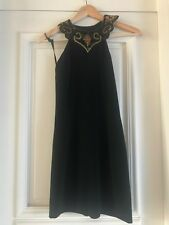 Vintage Black mini dress with sequins and beaded details, size uk8-10