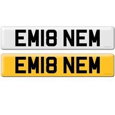 EM18 NEM PRIVATE REG CAR NUMBER PLATE EMINEM FAN