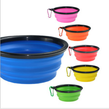 Portable Collapsible Bowl Food Water Dish Travel Foldable Pet Dog Cat