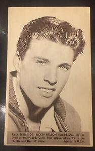 Ricky Nelson #35 1959 NU CARDS ROCK & ROLL