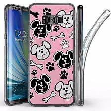 For Samsung Galaxy S8 Plus,Tri Max Transparent Full Body Case Cover CUTE DOGGY