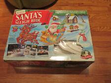 Mr. Christmas Santa's Sleigh Ride Electric Slot Car 1993 Lights Excellent Box