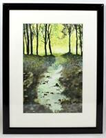 Original Art Scottish Watercolour Painting Stoney Burn Signed Framed