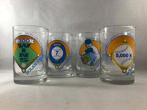 1992 Nolan Ryan Complete Set Of 4 Drinking Glasses * (C2)