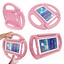 """Cute Baby Kids Toddler Steering Wheel Shockproof Eva Foam Stand Case for Tablets Samsung Galaxy Tab 3 7"""" / T210 Baby Pink"""