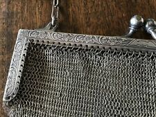 Antique Whiting & Davis Beautiful German Silver Soldered Mesh Purse
