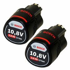2x Bosch Akku NEW Powerpack = 2x Akku 10,8V 2,0Ah Li-Ion GSR GDR GOP GWI GSA