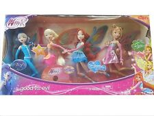 Winx Club Good vs Evil 4 Pack Icy Bloom Stella Flora 11.5  Enchantix Dolls