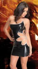 Robe vinyl sexy courte pvc leather dress