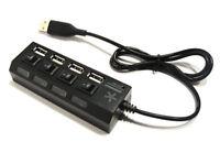 USB Hub 2.0 4 Port Adapter Ladegerät Netzteil Verteiler Netzadapter Schalter