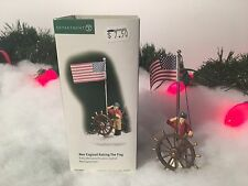 New Department 56 Alpine Village Series New England Raising The Flag #56687