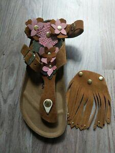 Birkenstock Gizeh Flower Sandals EU 37 Women 6-6.5 SINGLE RIGHT FOOT AMPUTEE