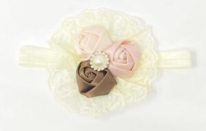 Baby Newborn Lace Headband Photoshoot Accessory with Flower