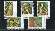 SAN MARINO 1975 Sc#860-864 PAINTINGS BY GIOTTO SET OF 5 STAMPS MNH