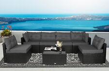 7 PC Rattan Furniture Sectional Home Outdoor Garden Patio Balcony Sofa Set Grey